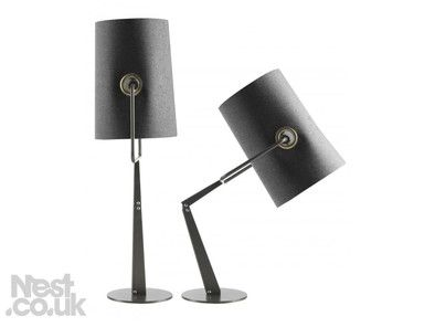Lighting Diesel With Foscarini Fork The Lampshade Is Extremely Flexible And Can Be Oriented 360 Its Stan Table Lamp Funky Lamps Adjustable Table Lamps