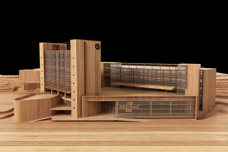 wood architectural model by ricardo canton architecture