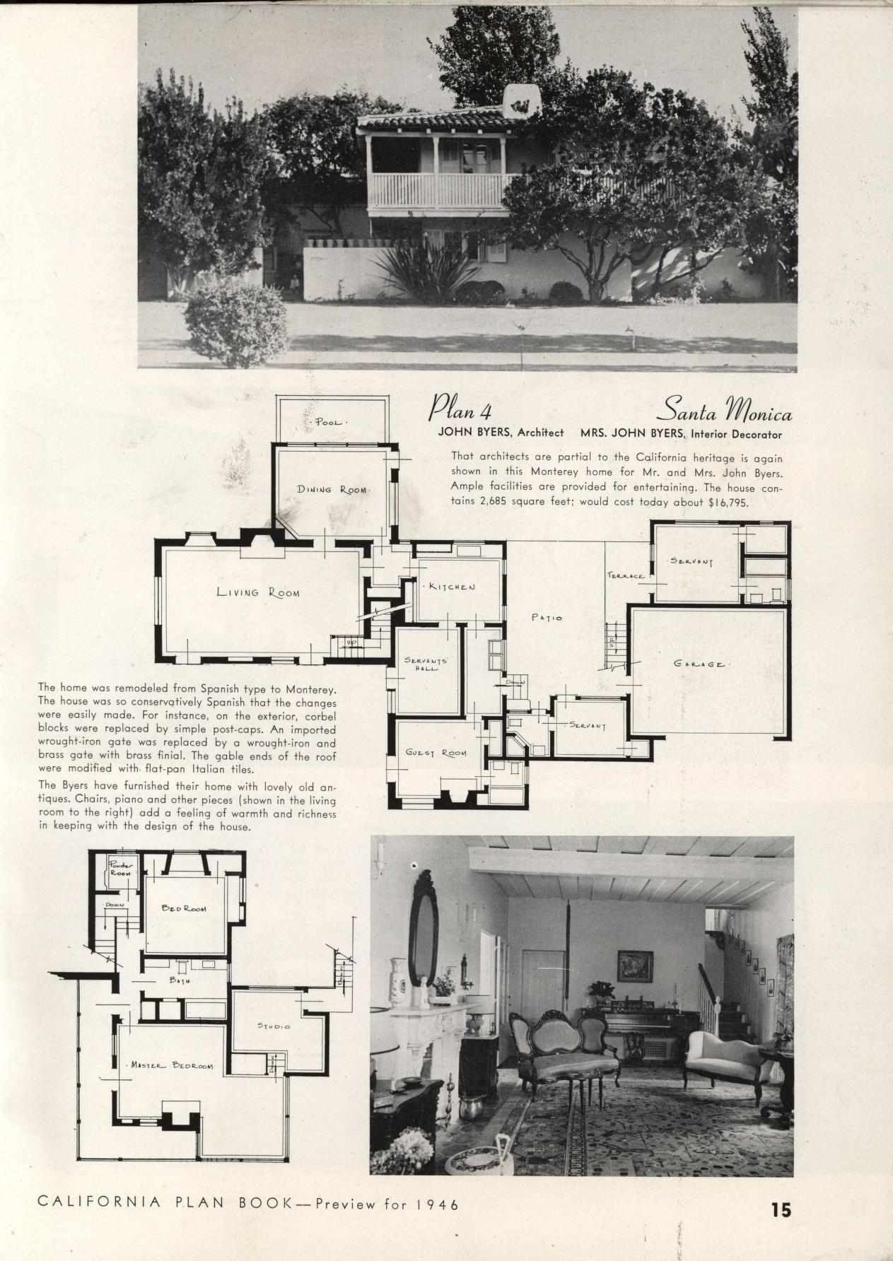 California plan book : 1946   VinTagE HOUSE PlanS~1940s ...