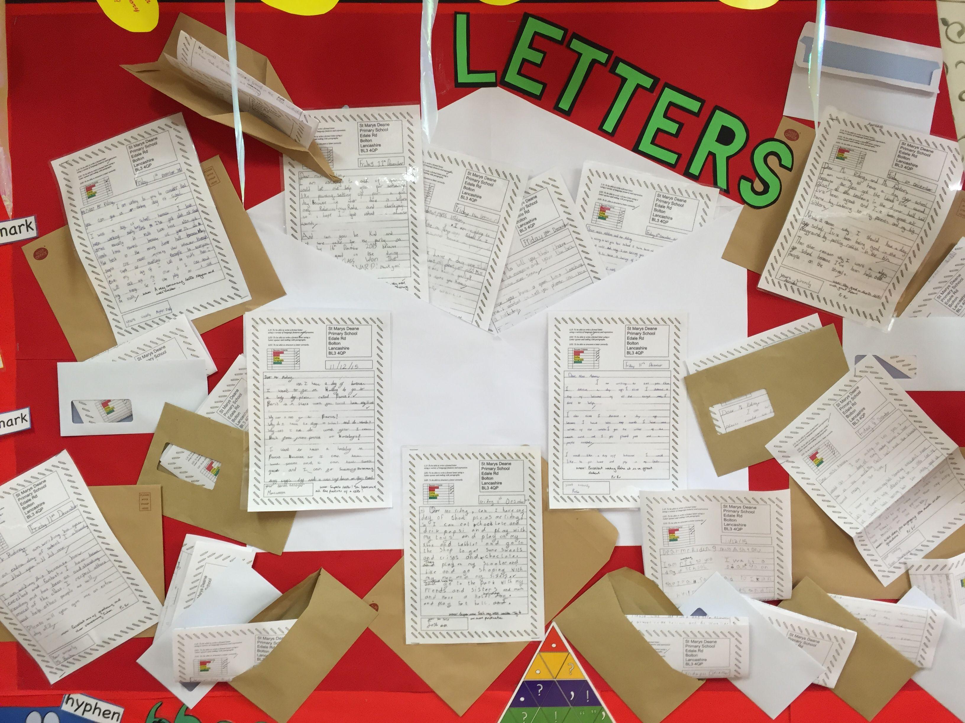 Letter Writing Ks2