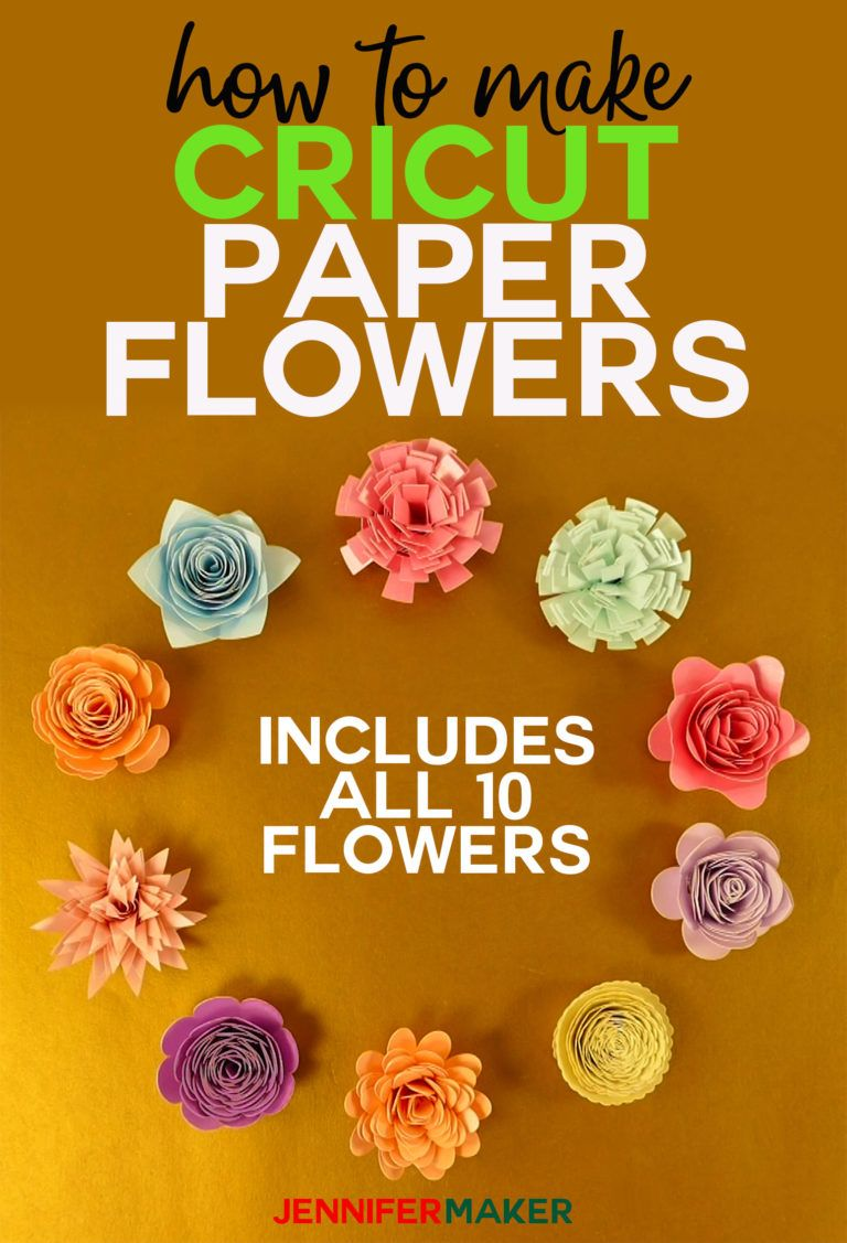 How To Make Cricut Paper Flowers All 10 Cricut Rolled Paper