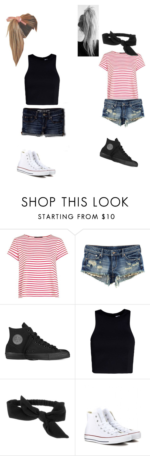 """""""Going to the mall with a friend"""" by jnikirk ❤ liked on Polyvore featuring Weekend Max Mara, H&M, Converse, T By Alexander Wang, Target, American Eagle Outfitters, women's clothing, women's fashion, women and female"""