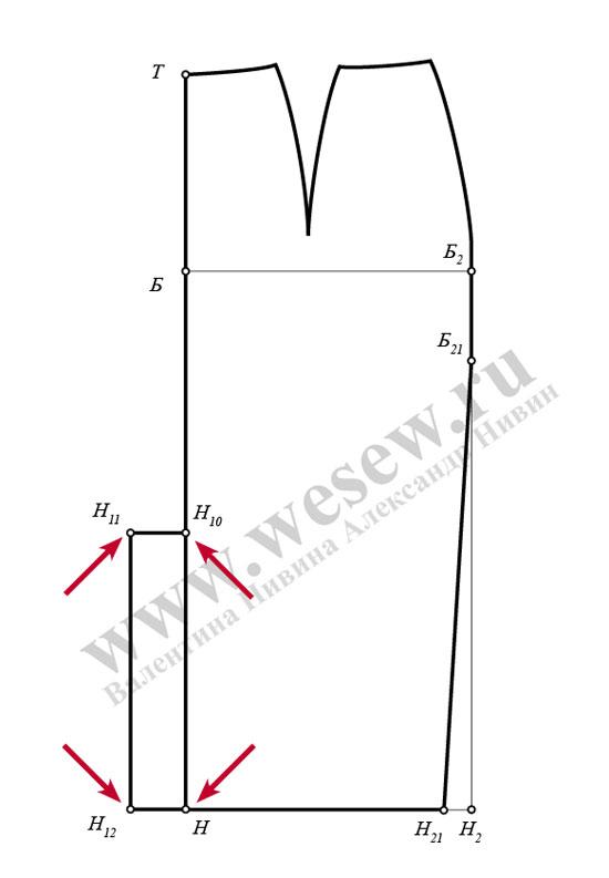 Юбка карандаш выкройка Pencil skirt pattern   Выкройки