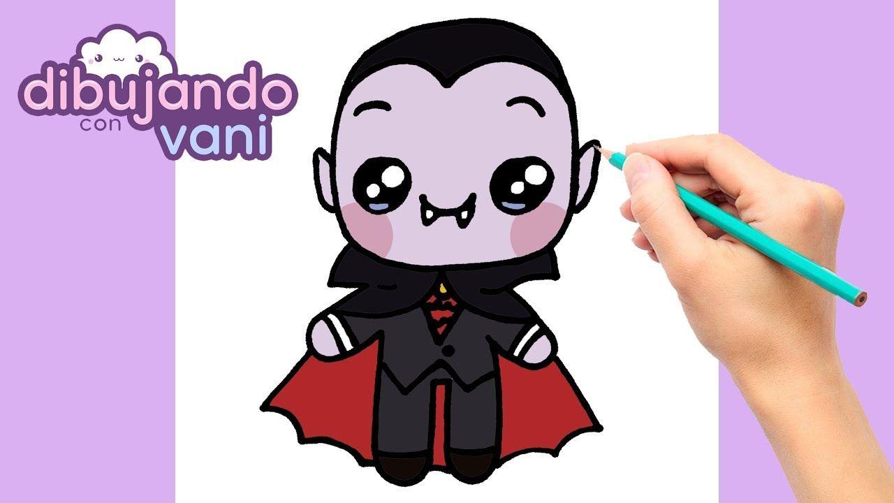 Como Dibujar Un Vampiro Paso A Paso Dibujos Para Dibujar Dibujos Fac Vampiro Dibujo Kawaii Halloween Dibujo Paso A Paso