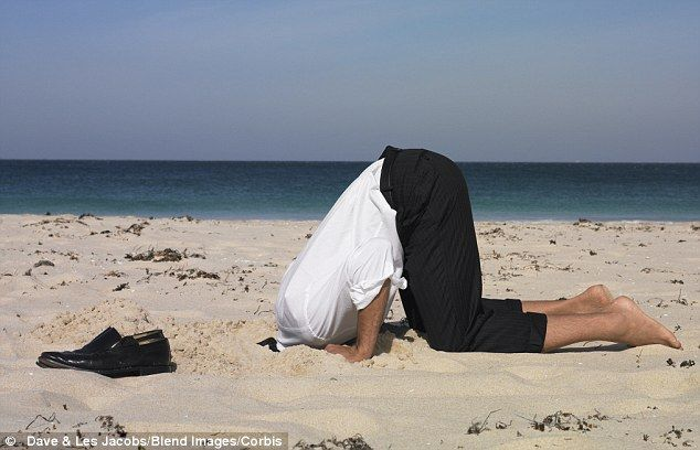 Burying your head in the sand? You're feeling guilty | Head in the sand,  Sand, Sand quotes