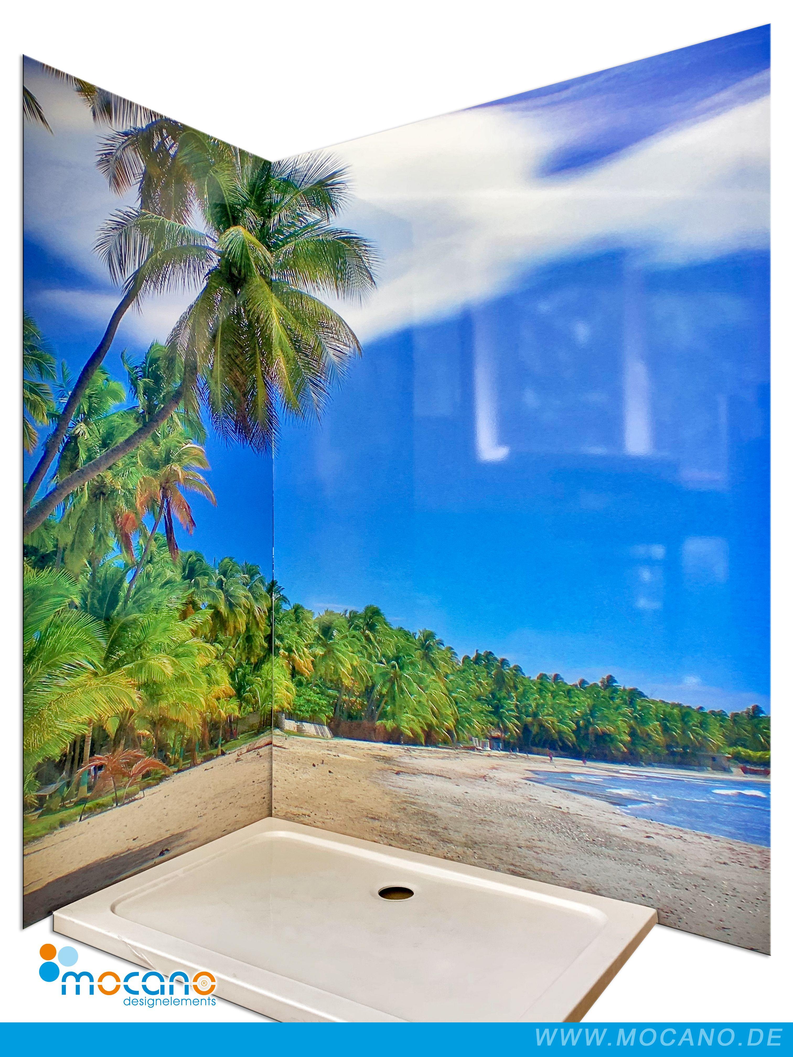 Badezimmer Inspiration Mit Einer Karibik Duschruckwand Jacmel Haiti Fur Ihre Dusche Ohne Fliesen In 2020 Duschruckwand Haiti Dusche