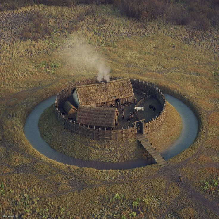 Digital reconstruction of an early Scottish moated castle ...