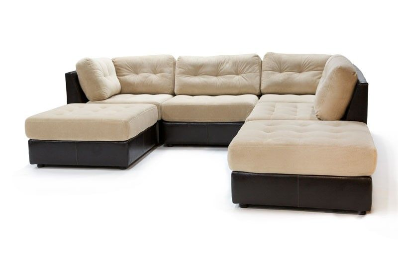 Mor Furniture For Less Quantum Tan 6 Piece Sectional