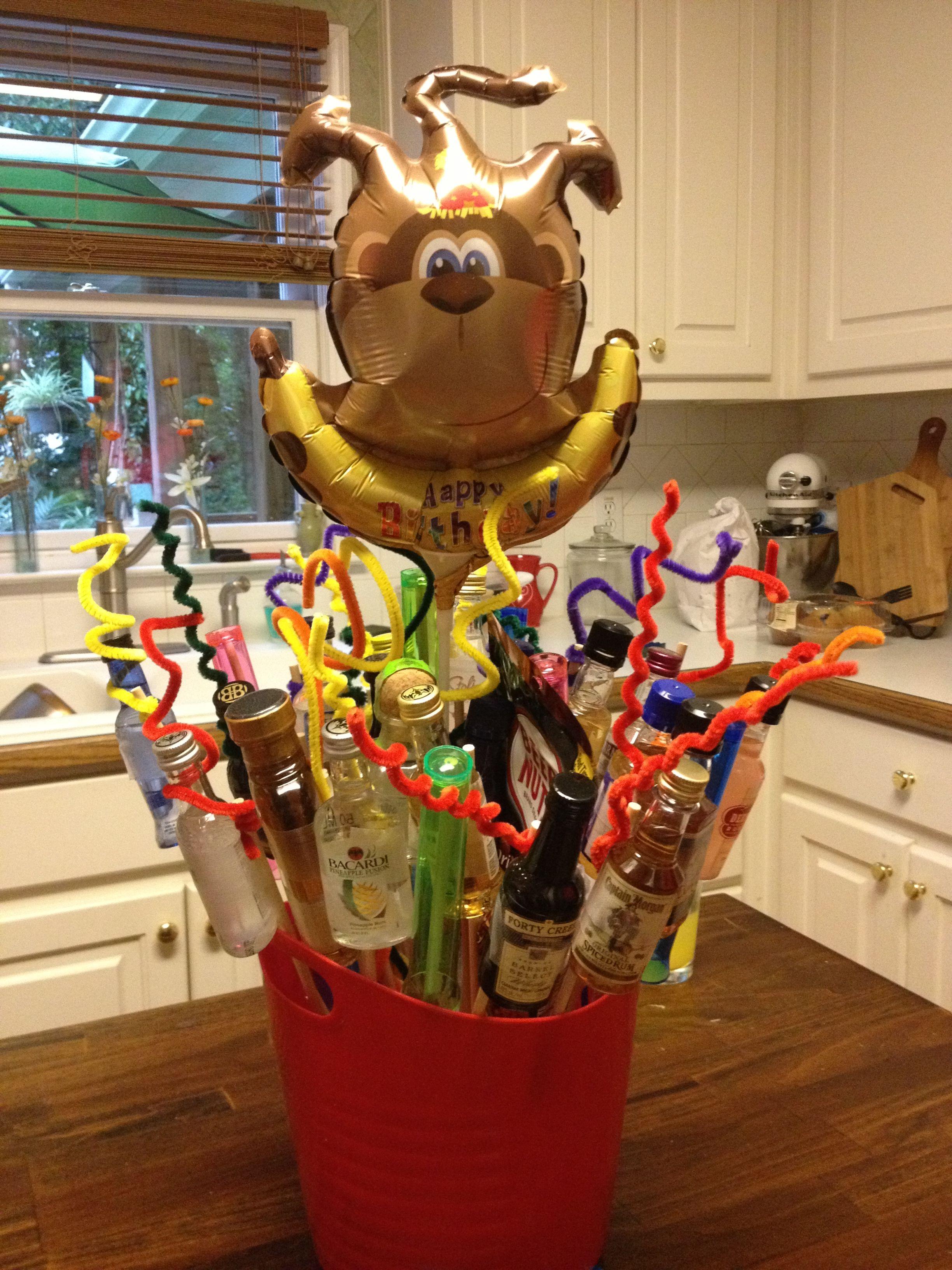 21st birthday bucket with 21 shots plastic shot glasses