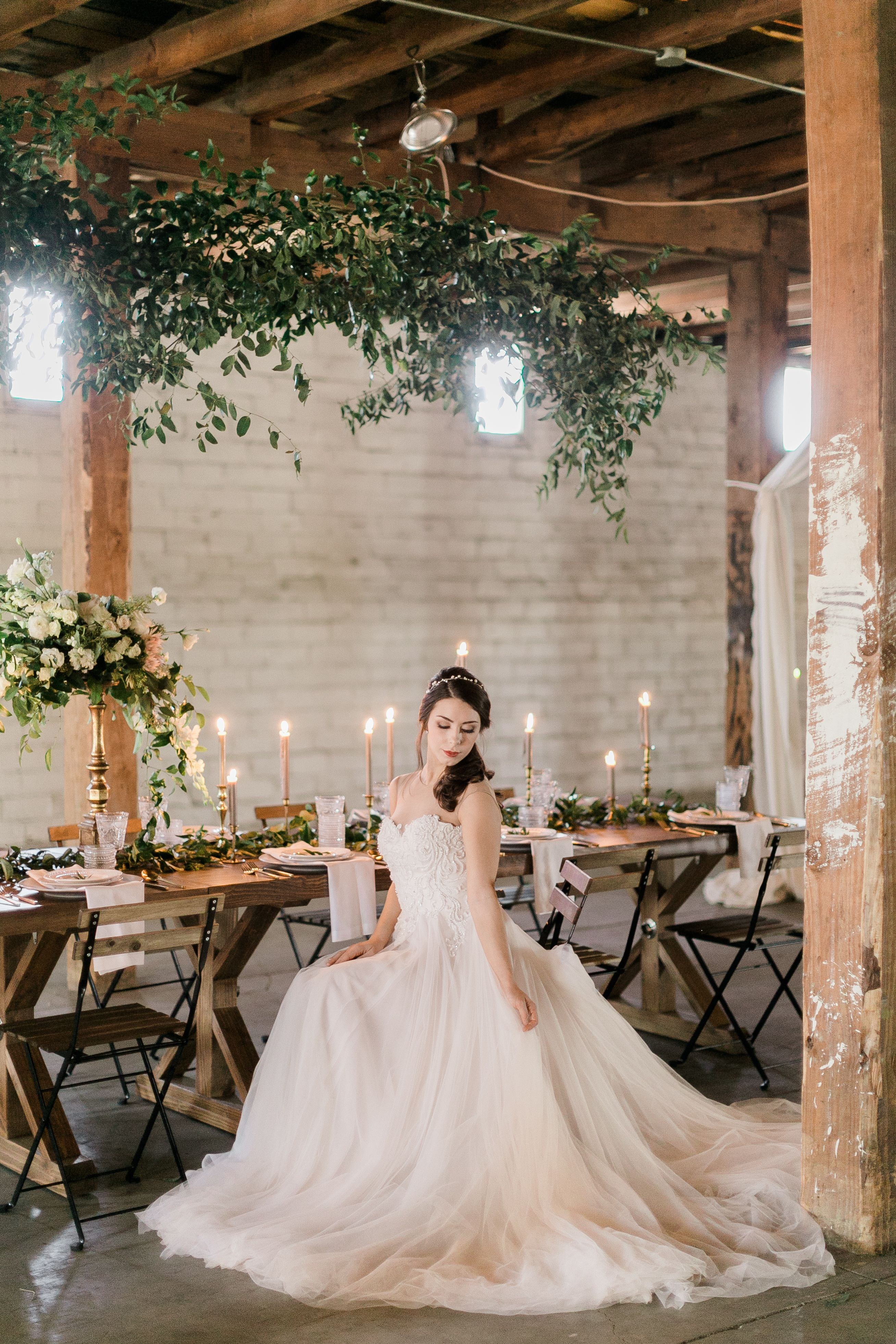The allyson a simple flowy aline wedding dress with illusion