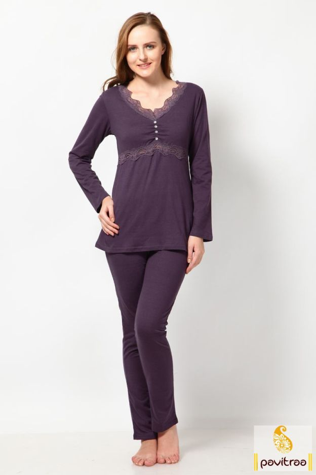 11a9120e017b Easy-to-wear purple viscose women night wear dress will provide you soft  look and feel with nice purple top and bottom and gives great sleeping  experience.