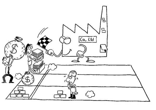 Performance Review CRG Business Cartoons by Stef