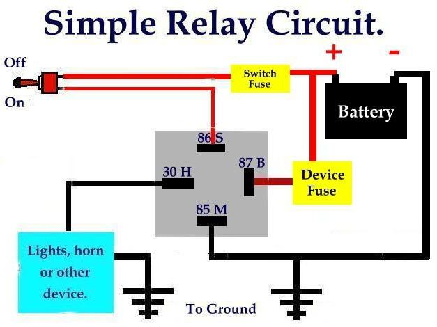 simple relaycircuit is an electrically operated switch many rh pinterest com basic relay circuit diagram Relay Connection Diagram