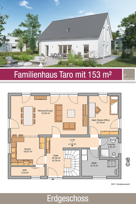 Familienhaus Grundriss 153 m² 5 Zimmer Erdgeschoss