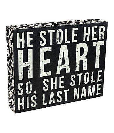 Primitives by Kathy Last Name Box Sign #Dillards