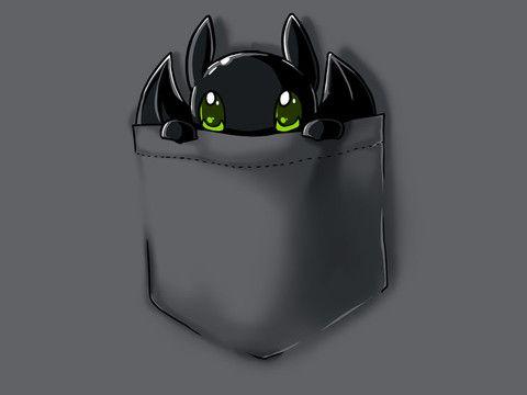 Pocket Dragon | Funny, cute & nerdy shirts | TeeTurtle