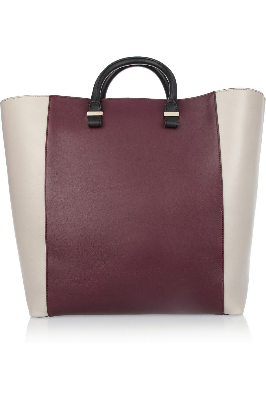 VICTORIA BECKHAM Tri-tone leather tote