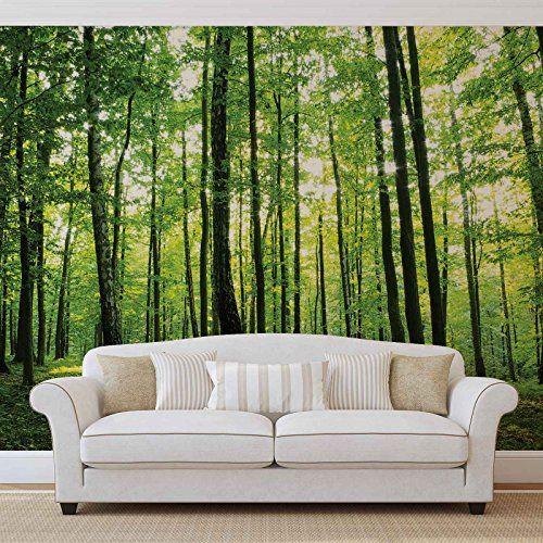 Wald Bäume Grün Natur - Forwall - Fototapete - Tapete - F ...
