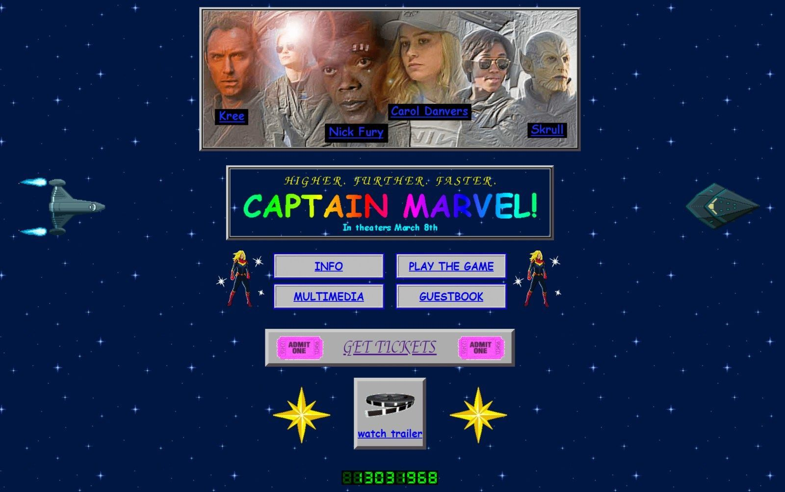 The Captain Marvel Site Revisits Classic 90s Web Design Web Design Websites Online Web Design Web Design Company
