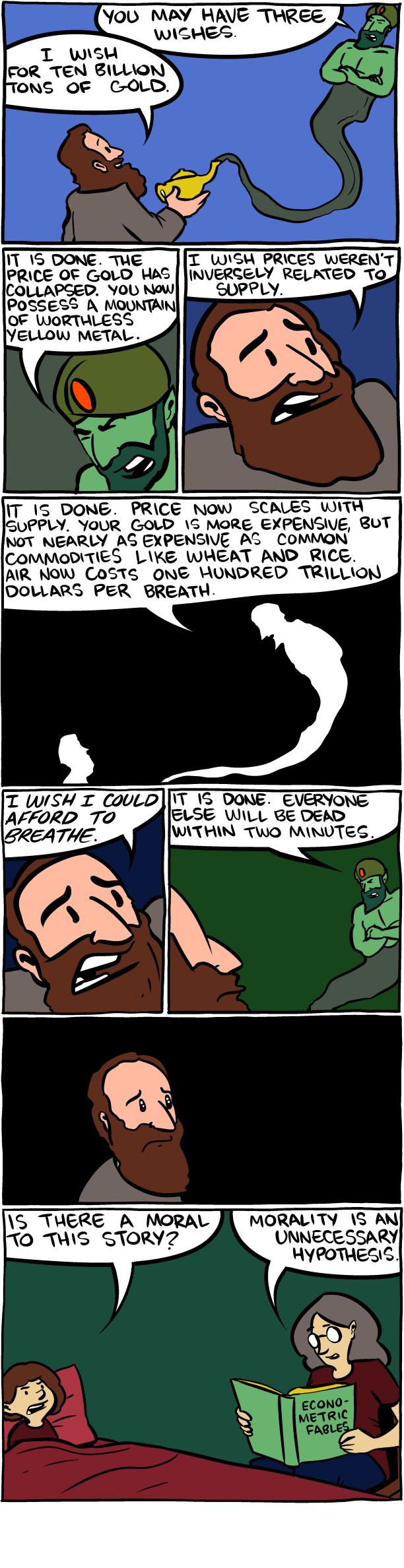 2 Hilarious Comic Fables For The Killjoy Economists In Your Life Smbc Comics Funny Economics Humor