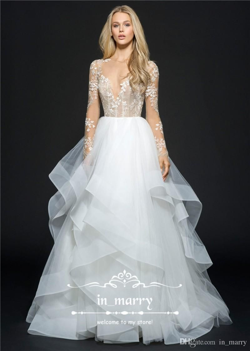 hayley paige backless crystal wedding dresses a line flower