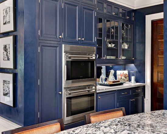Navy #blue Painted #kitchen #cabinets? I Say YES! :)