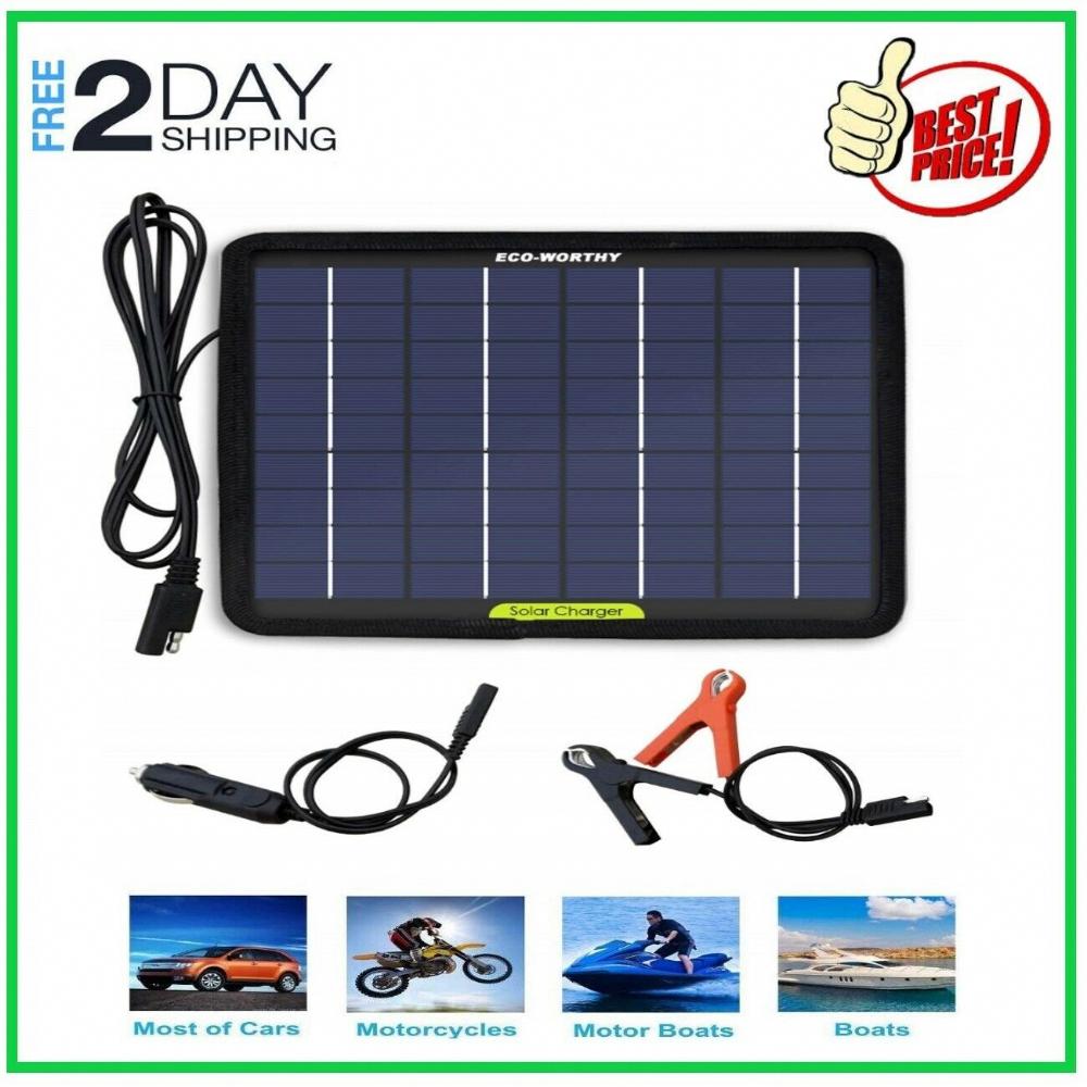 Solar Panel 12v Battery Charger System Maintainer Rv Car Boat Marine Waterproof 788256345242 Ebay Solarpanels Sola Solar Solar Technology Solar Panel System