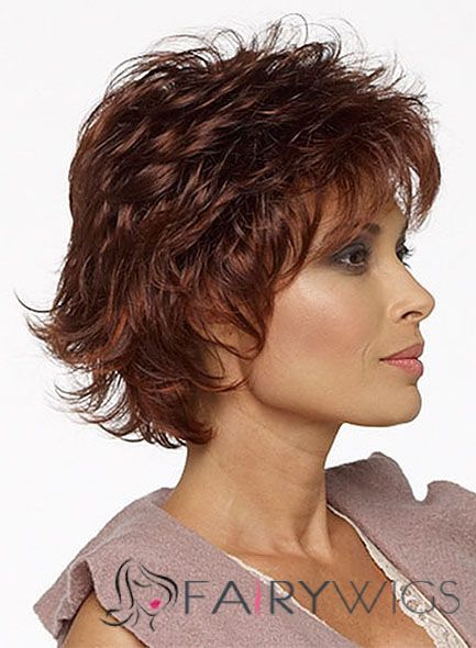 Lovely Cheap Human Hair Ebony Short Wigs