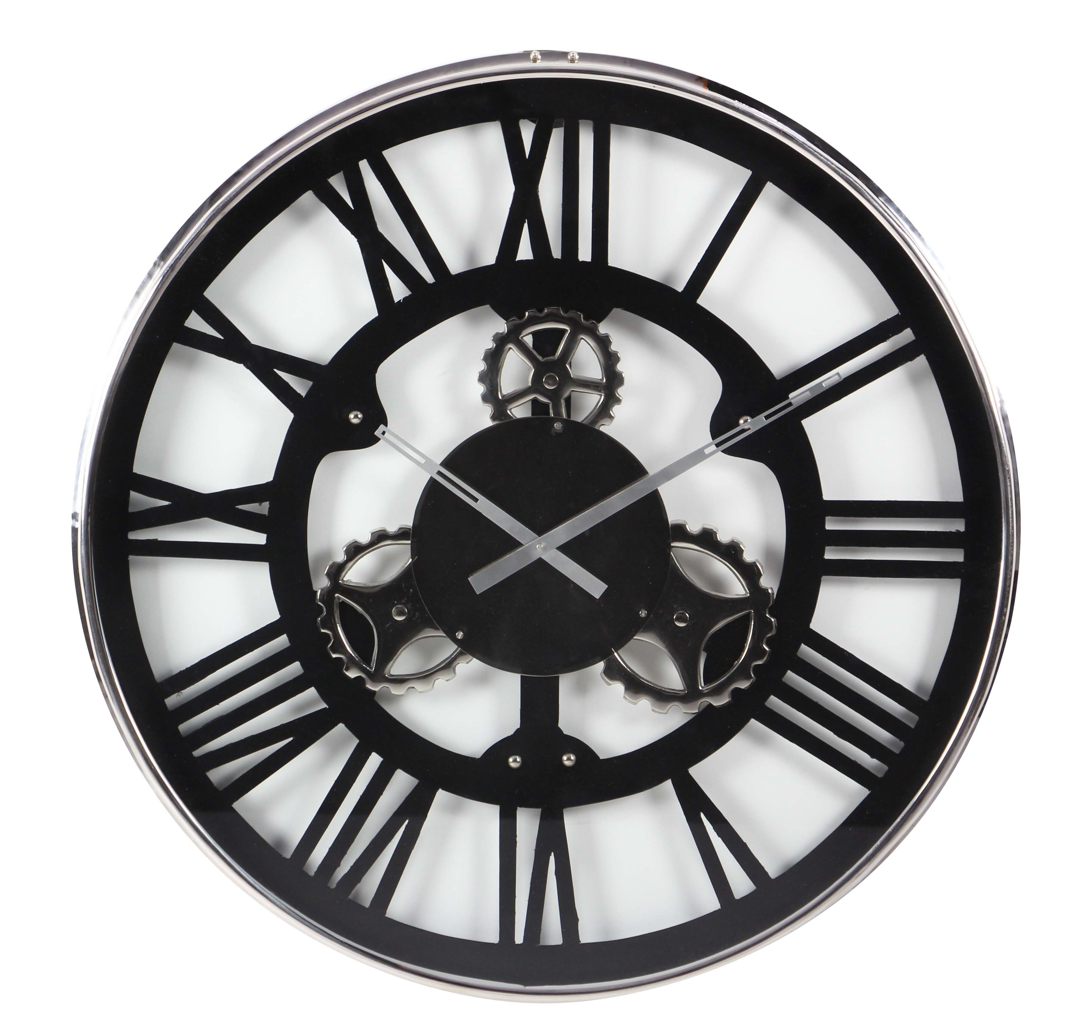 """GwG Outlet Stainless Steel Wall Clock 30""""D Wall Clocks"""