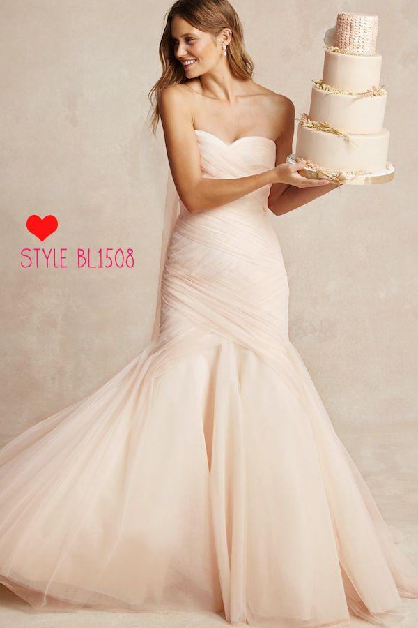 monique lhuillier bliss 1508 brand new never been worn size 2 blush wedding dressesblush