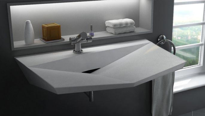 Unique Bathroom Sinks By Vaskeo Diamond Solid