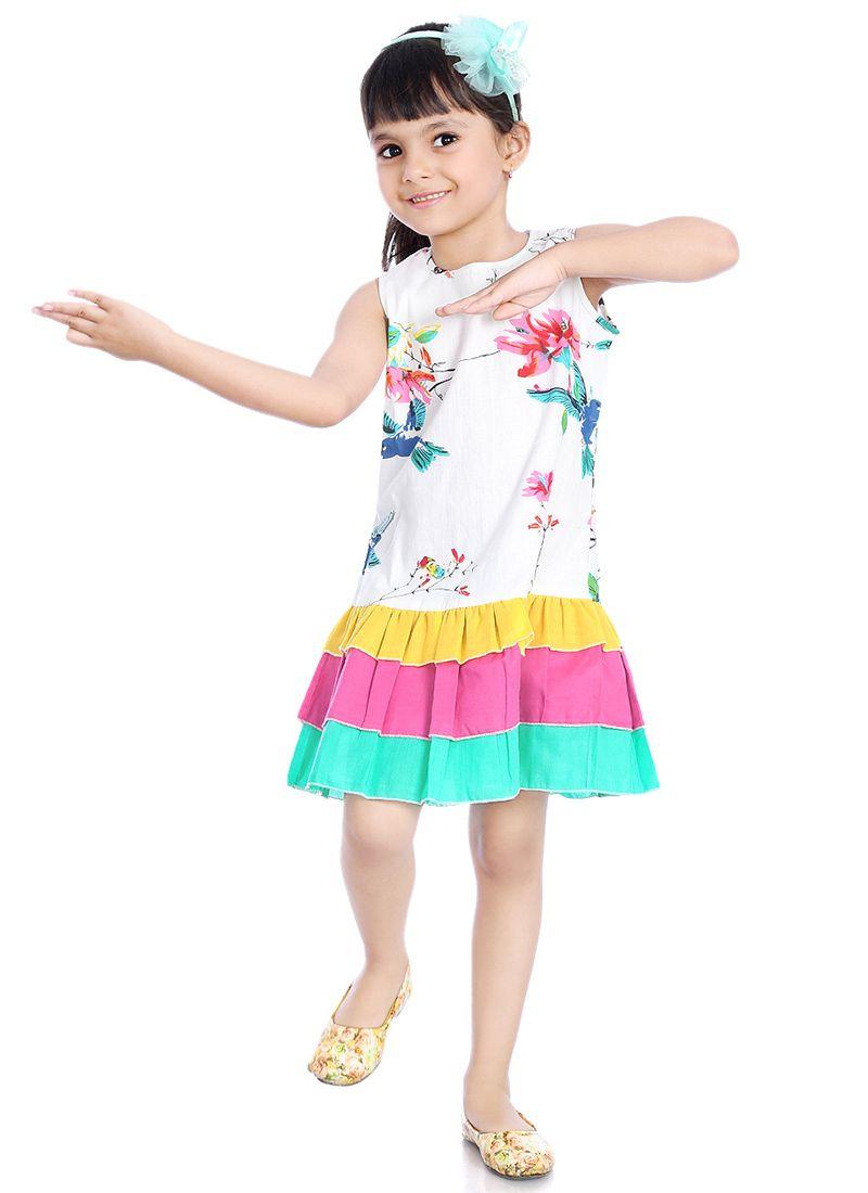 d8c0d9b90c Buy White Printed Kids Dress online, SKU Code: KDJLPFRKFR00BIR. This ...