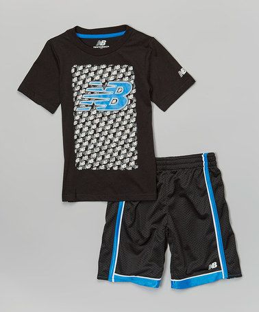 Loving this Black & Blue Logo Tee & Shorts - Infant, Toddler & Boys on #zulily! #zulilyfinds