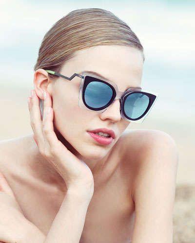fcabb7a65 Runway Cat-Eye Sunglasses Black/Clear | Throwing Shade - Sunglasses ...