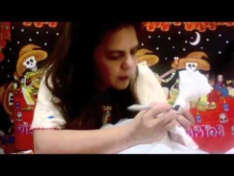 How to Make Catrina Dolls for Day of the Dead out of plastic shopping bags