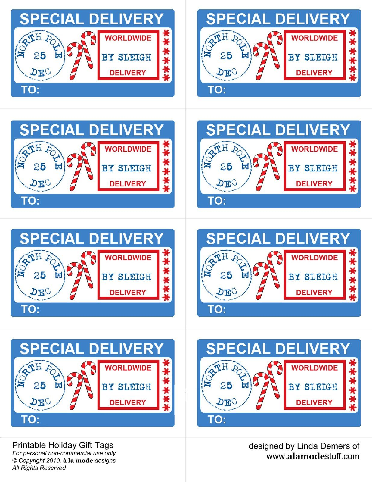 Special delivery tags from santa pinteres special delivery tags from santa more spiritdancerdesigns Choice Image
