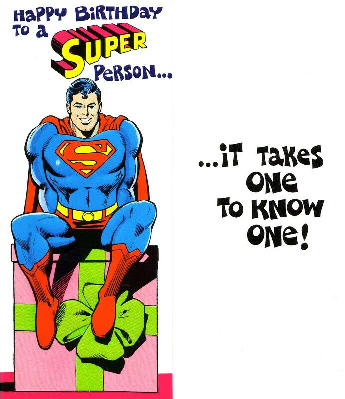 Superman birthday card dr funny pinterest superman birthday superman birthday card dr bookmarktalkfo Image collections
