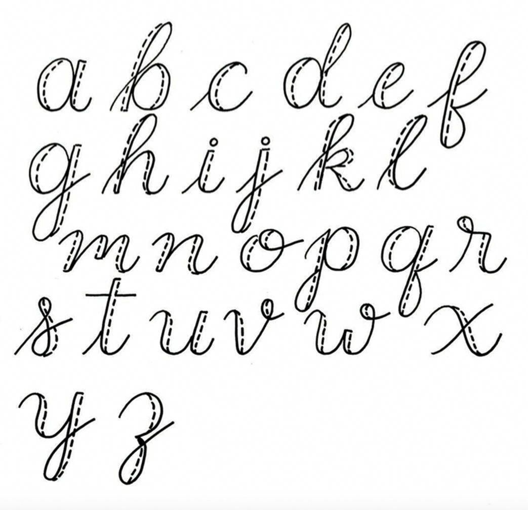 Easy faux calligraphy lettering. HandwritingTips   Hand lettering ...