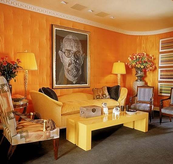 Bright Orange Living Room Accessories: Darkish Orange For Living Room