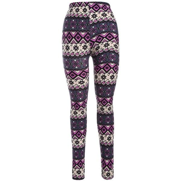 Geometric Floral Print Leggings (18 BRL) ❤ liked on Polyvore featuring pants, leggings, floral trousers, floral print trousers, floral pants, floral leggings and flower print pants