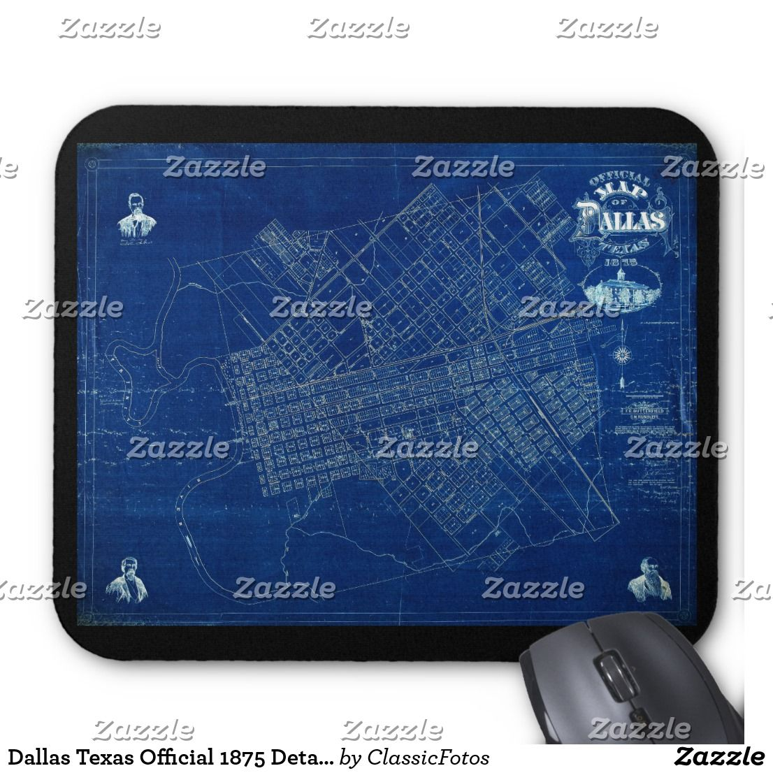 Dallas texas official 1875 detailed blueprint map mouse pad texas dallas texas official 1875 detailed blueprint map mouse pad texas mouse pad dallas mouse malvernweather Image collections