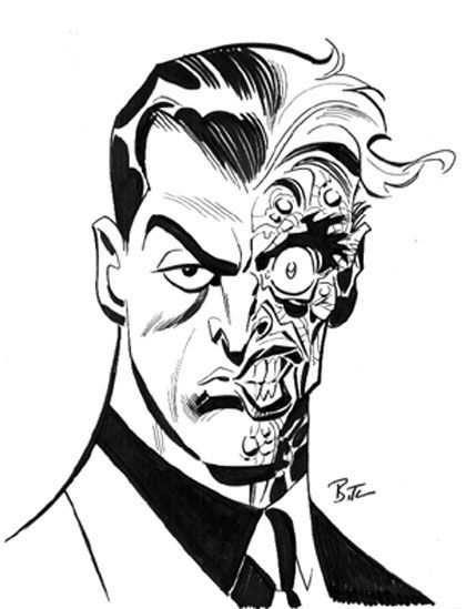 Two Face by Bruce Timm   Hey Kids! Comics   Pinterest   Bruce timm ...