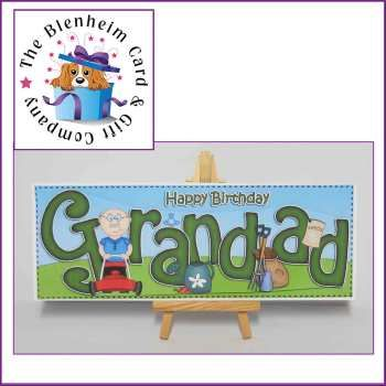 Gardening Grandad Birthday Card.  A fun and funky Happy Birthday Grandad card, featuring a 3D decoupage topper.   This card is a large DL size, and is blank inside for your own message.   £1 plus £1 postage.