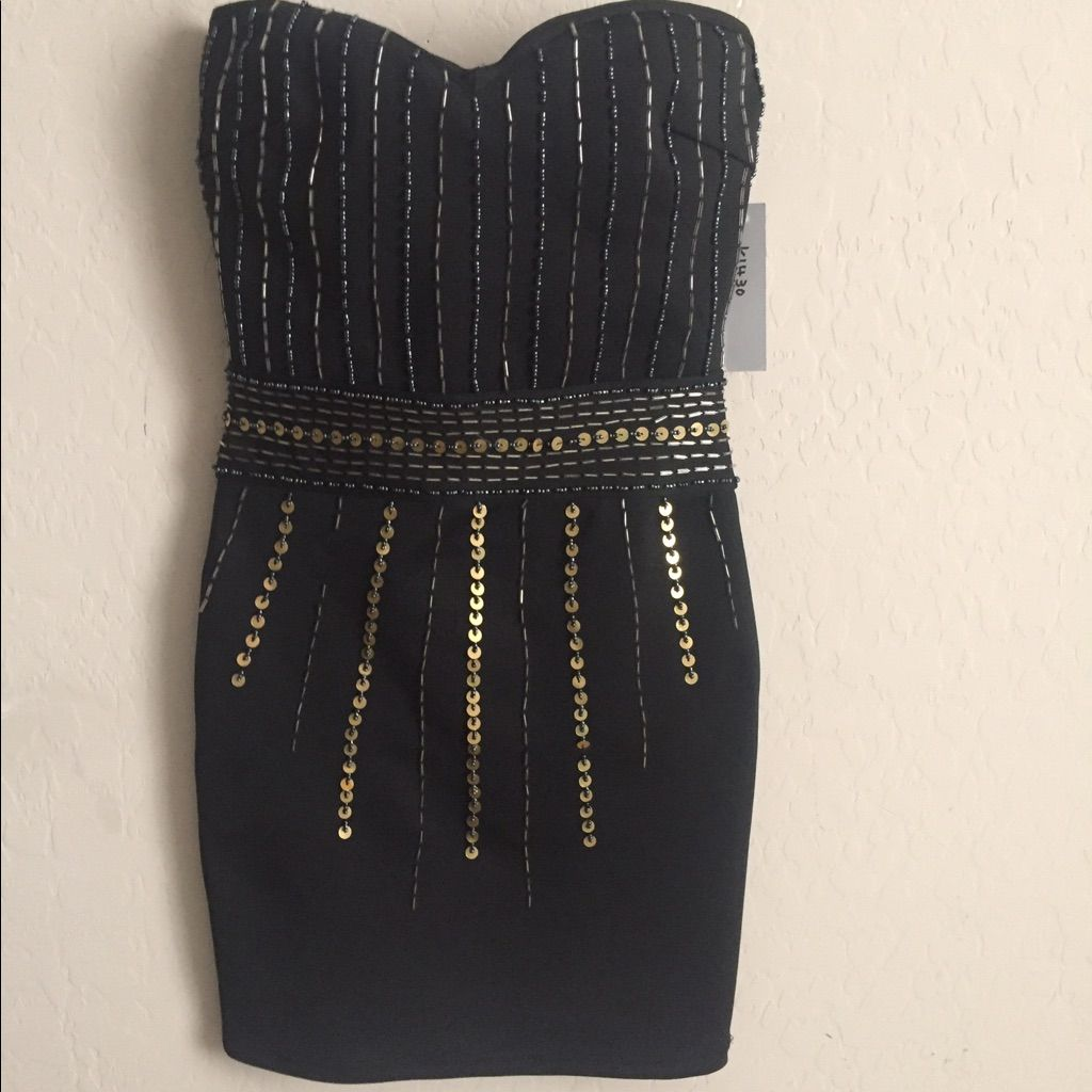 Wow Couture Strapless Mini Dress