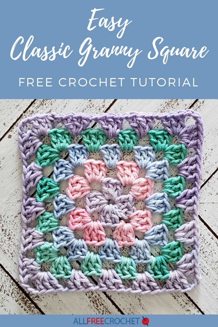 image regarding Free Printable Crochet Granny Square Patterns known as Uncomplicated Clic Granny Sq. Crochet Granny Sq. Types