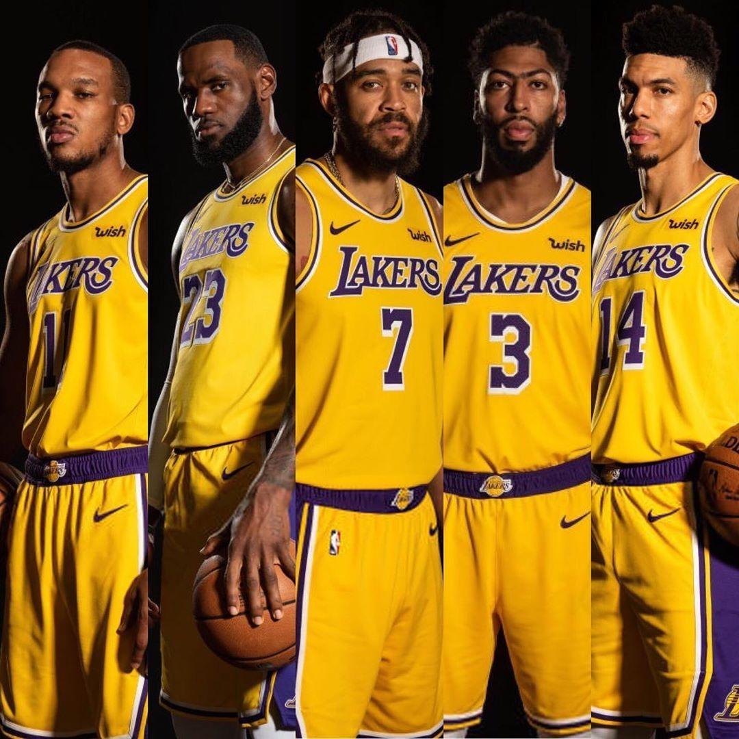 Lakers Starters Against Warriors Lebron James Avery Bradley Danny Green Anthony Davis Javale Mcgee Basketball Lebron James Basketball Training