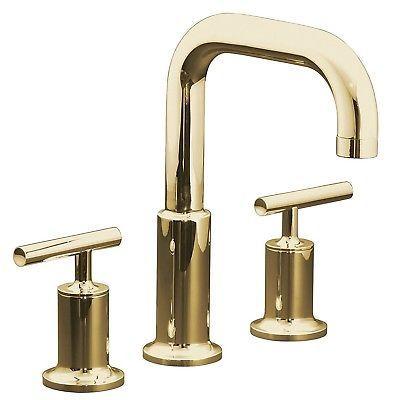 KOHLER Purist T14428-4-PGD Vibrant Moderne Polished Gold Roman Tub ...