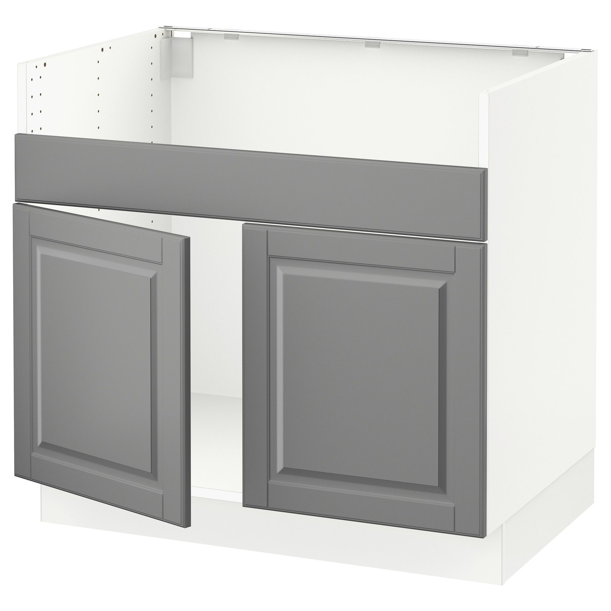 Ikea sektion base cabinet f domsjö 2 bowl sink white bodbyn