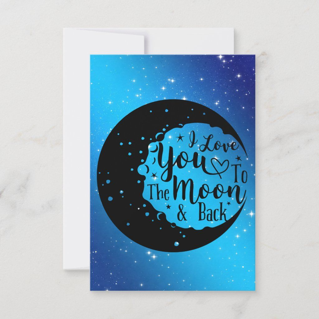I love you to the moon back card in 2020