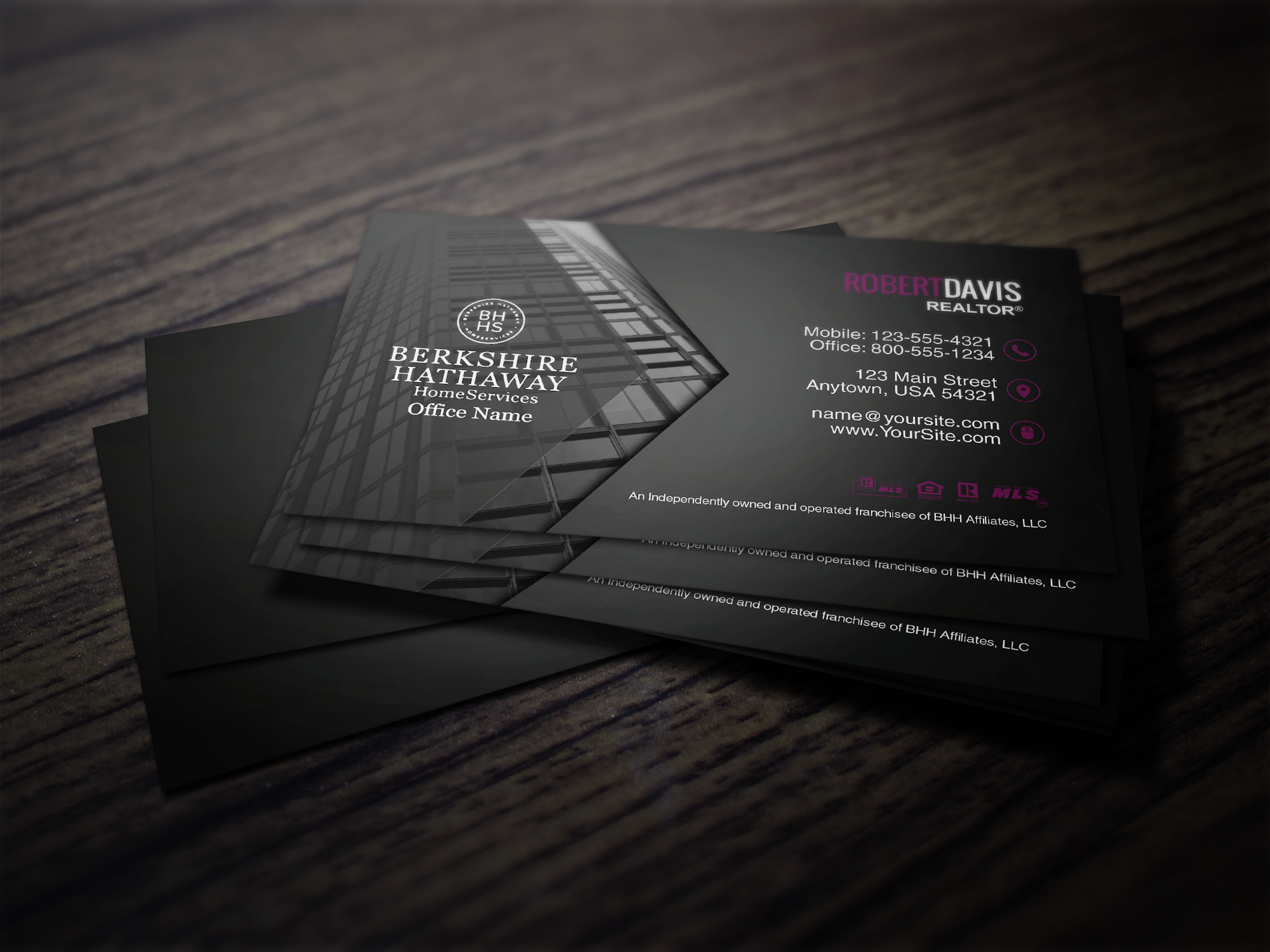 Berkshire Hathaway Realtors Can Use Our On Site Designer To Create Elegant New Business Cards Like T Glossy Business Cards Business Cards Business Cards Online